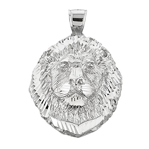(Animal Kingdom 925 Sterling Silver Leo Zodiac Sign Charm King Lion Pendant)