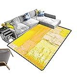 alsohome Silky Smooth Bedroom Mats Wallpaper Texture backgroun n Original Oil Yellow Beige Waterproof and Easy Clean 22 x 60 inch