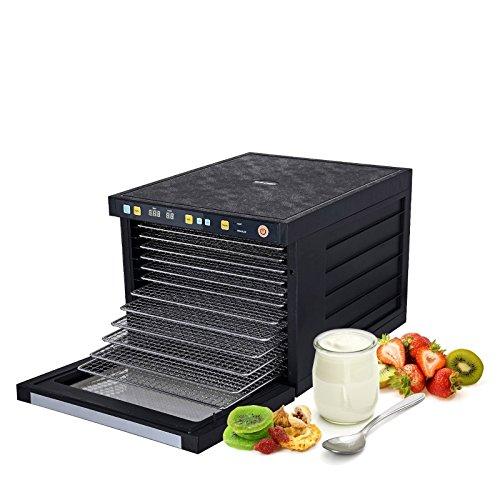 BioChef Savana Food Dehydrator Machine BPA FREE Stainless Steel Trays, Dual-Fan Split System Technology, Glass Door, (6, 9 or 12 Trays), 3 Yr Warranty, Fruit & Jerky Food Dryer (12 Tray)