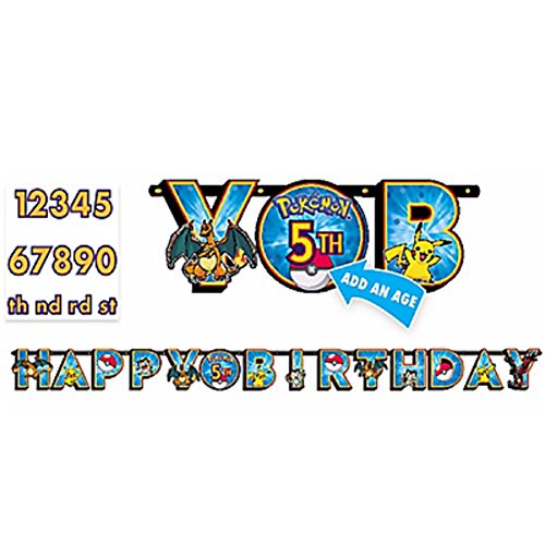 Create Your Own Costume Ideas (American Greetings Pokemon Add-an-Age Birthday Party Banner (Discontinued by manufacturer))