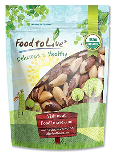 Food to Live Organic Brazil Nuts (Raw, Unshelled, Kosher) — 2 Pounds