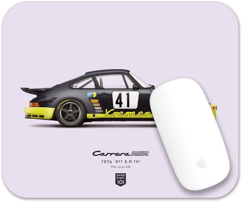 Spa 1000 km GarageProject101 1974 Classic 911 Carrera 3.0 RSR Illustration Mouse Pad
