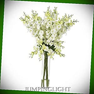 JumpingLight Delphinium Silk Flower Arrangement Artificial Flowers Wedding Party Centerpieces Arrangements Bouquets Supplies