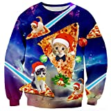 RAISEVERN Unisex 3d Print Ugly Christmas Pullover Sweater Jumper Various Design
