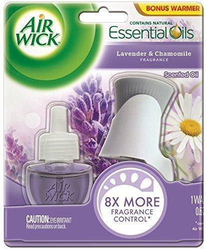 Air Freshener Refill Benckiser (Air Wick Scented Oil Refill Plug in Air Freshener Essential Oils, Lavender & Chamomile, Starter Kit, 1 Warmer + 1 Refill by Air Wick)
