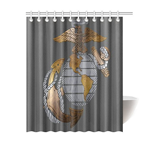 New Year Gifts/Thanksgiving Day USMC United States Marine Corps Waterproof Bathroom decor Fabric Shower Curtain Polyester 60 x 72 inches