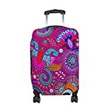 Bohemian Hippie Print Travel Luggage Protector Baggage Suitcase Cover Fits 26-28 Inch Luggage