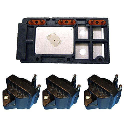 Pontiac Bonneville Ignition Coil (Ignition Control Module + (3) High Performance Ignition Coils for Chevy GMC 3.8L D555 LX364)