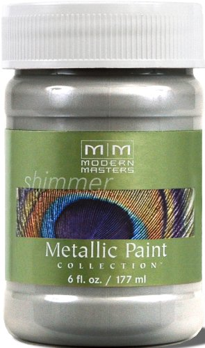 Satin Nickel Paint - Modern Masters ME150-06 Metallic Silver, 6-Ounce