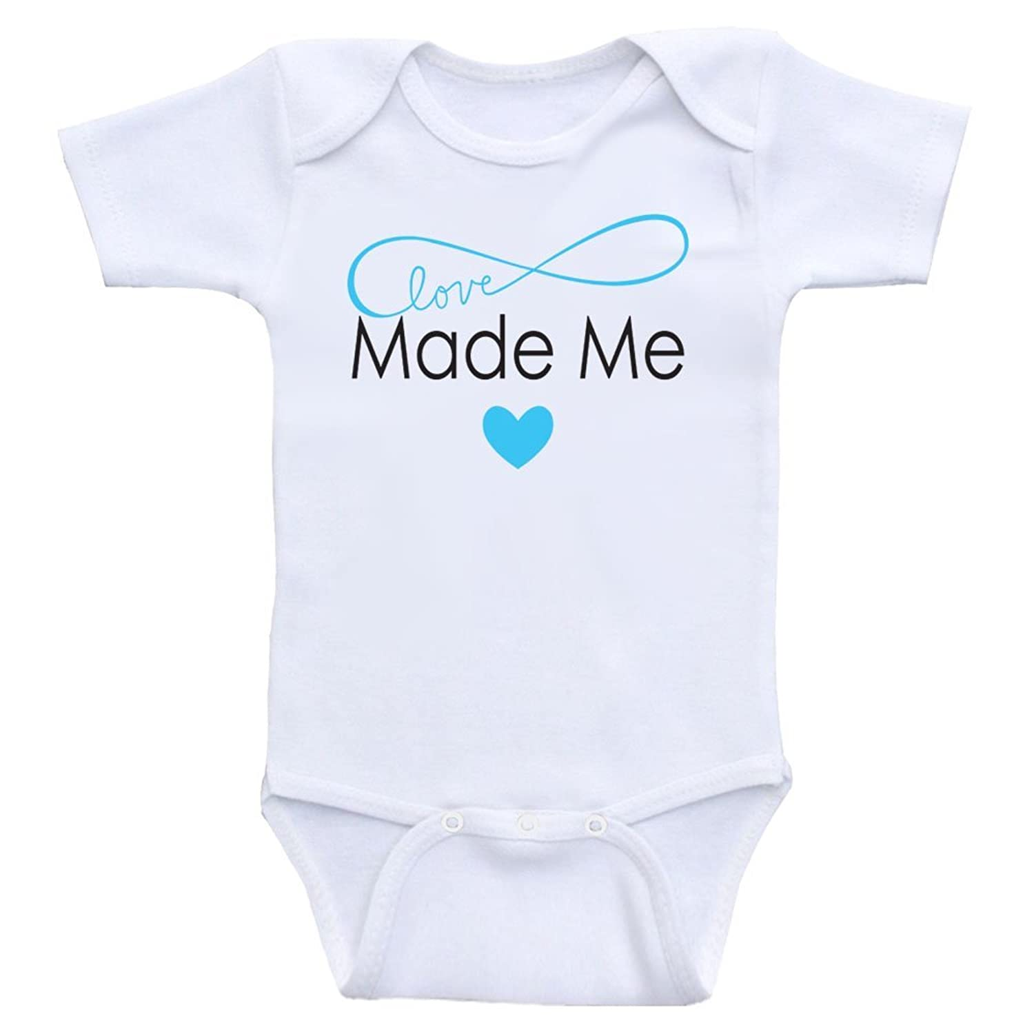 "Amazon Cute Baby esie ""Love Made Me"" Baby Clothes For Girls"