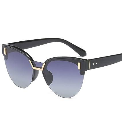 GUOHONG-CX Moda Gafas De Sol Polarizadas Medio Marco Ojo De Gato Casual Europa Tendencia