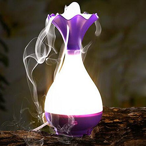 USB Mini night light Humidifier Vase Bottle Humidifier (Purple) - 3