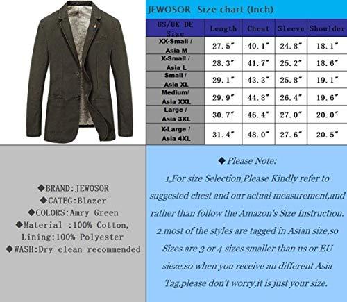 Autunno Giovane Grün Cappotto Jack Vintage Maniche Fashion Giacchino Lunghe In Fit Uomo Da Saoye Blazer A Cotone Monopetto Giacche Armee Inverno Slim Capispalla 7azWBqPw
