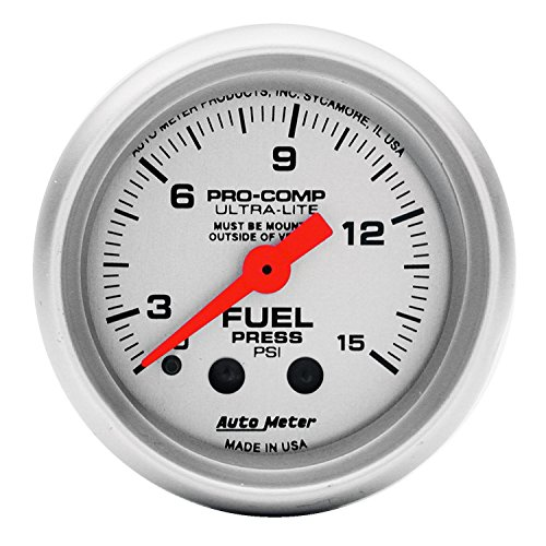 UPC 046074043130, Auto Meter 4313 Ultra-Lite Mechanical Fuel Pressure Gauge