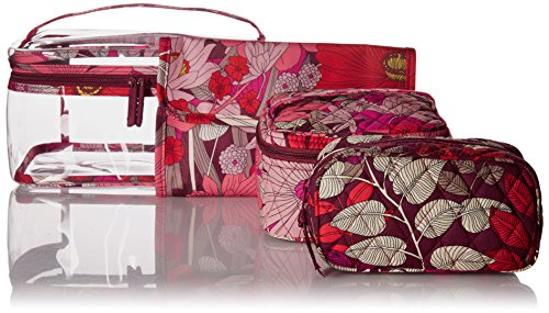 - Vera Bradley Travel Cosmetic Set, Bohemian Blooms