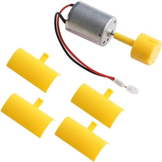 Kofun DC micro motore piccole luci LED Vertical Axis Wind turbine Generator pale del ventilatore verticale albero micro generatore eolico + + 5/mm LED rosso