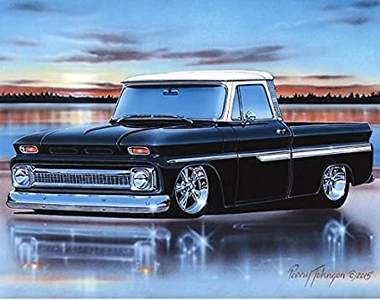 Amazon Com 1964 65 66 Chevy C10 Fleetside Pickup Classic Truck Art