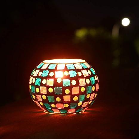 Amazon Com Kathshop Magicnight Color Changing Mosaic Solar Table