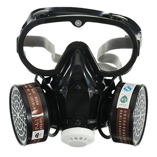 OlogyMart Respirator Gas Mask Safety Chemical Anti-Dust Filter Military Eye Goggle Set Workplace Safety Prote by OlogyMart (Image #2)