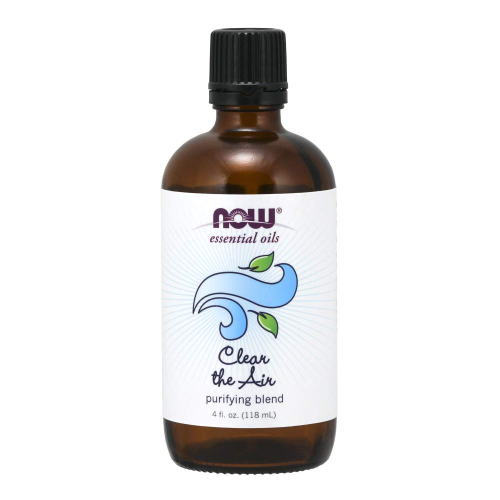 Now Essential Oils, Clear The Air Blend, Refreshing Aromatherapy Scent, Blend of Pure Essential Oils, Vegan, 4-Ounce by NOW Foods