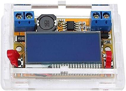 Covvy DC-DC Alimentatore Step-Down Regolabile Con Display LCD Voltmetro Amperometro Dual Display Convertitore DC5-23V a 0-16.5V 3A Buck