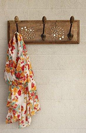 Wall Hooks Key Holder Coat Clothes Hangers Home Decor (3 Hooks)
