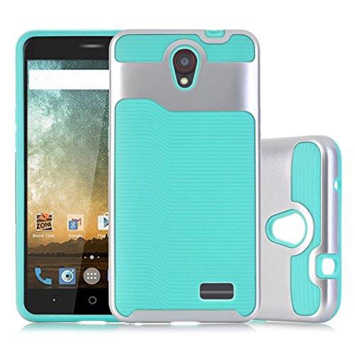 Aobiny Mobile Phone Case Bling Hard Soft Rubber Impact Armor Case Back Hybrid over For ZTE Avid Plus Z828 ()