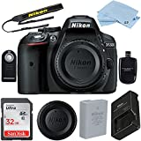 Nikon D5300 24.2 MP CMOS Digital SLR Camera (Body Only) with 32GB High Speed Memory Card and Accessory Bundle