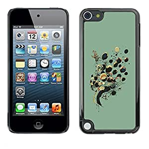 [Neutron-Star] Snap-on Series Teléfono Carcasa Funda Case Caso para Apple iPod Touch 5 [Globos Señora Dibujo Moda Profunda]