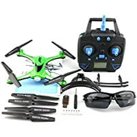 Yliyaya JJRC H31 Lightweight Waterproof 2.4G 4CH 6Axis RC Quadcopter Gyro Drone with 360° Rolling Action & Headless Mode & One Key Return (Green)