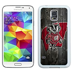 Ncaa Big Ten Conference Football Wisconsin Badgers White Best Sale Fantastic Samsung Galaxy S5 Cover Case