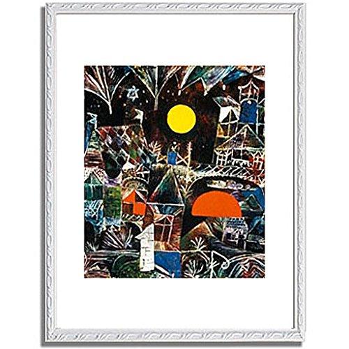 パウルクレー 「Moonrise Sunset. 1919 」 インテリア アート 絵画 壁掛け アートポスター フレーム:装飾(白) サイズ:L (412mm X 527mm) B00PB8QQHM 3.L (412mm X 527mm)|6.フレーム:装飾(白) 6.フレーム:装飾(白) 3.L (412mm X 527mm)