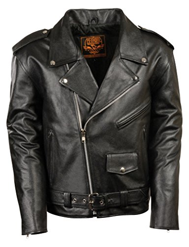 Milwaukee Leather Boys' Basic Motorcycle Jacket (Youth) (Black, Size 32)
