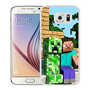 Beautiful Designed Case With Minecraft 30 White For Samsung Galaxy S6 Phone Case