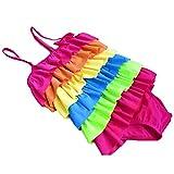 Rainbow Swimwear - SODIAL(R) Children's Rainbow Lovely Baby Swimsuit Bikini Rainbow XL age6-7