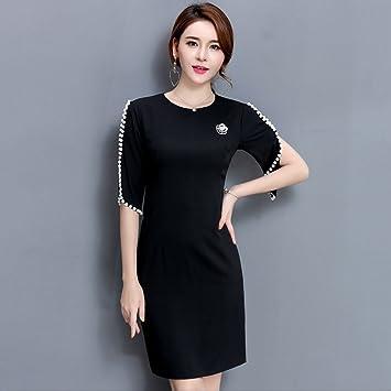 YAN Vestido de mujer Vestido de mujer - Sólido, moldeado con cuentas más el tamaño