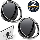 Cell phone ring grip Stand, [2 Pack] Phone Ring Holder 360° Rotation Universal