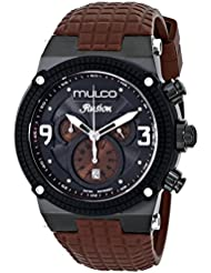 MULCO Unisex MW3-12140-035 Ilusion Analog Display Swiss Quartz Brown Watch