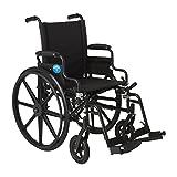Medline K4 Lightweight Swing Away Foot/Back Desk Length Arm Wheelchair, 18-Inch