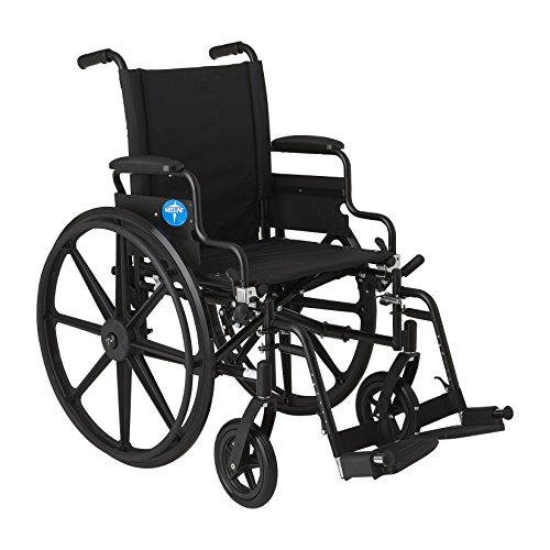 Medline Ultra lightweight Wheelchair Flip Back Swing Away