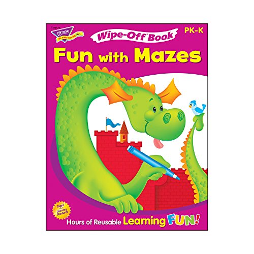 Trend Enterprises Fun with Mazes Wipe-Off Book