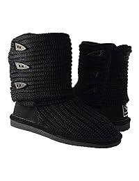 BEARPAW Women's Knit Tall Shearling Boots 658-W