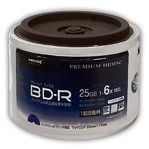 【300枚セット】HIDISC 6倍速対応BD-R 50枚パックx6個 25GB ホワイトプリンタブルハイディスク HDVBR25RP50SB B07G2PJCKG