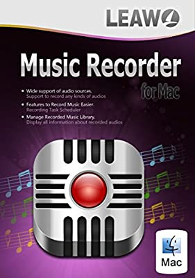 Audio Recorder for Mac, Best Music Recording Software for Mac, Record Audio and Music from Online and Local Mac, Record Audio to MP3 in High Quality.(1 Year)