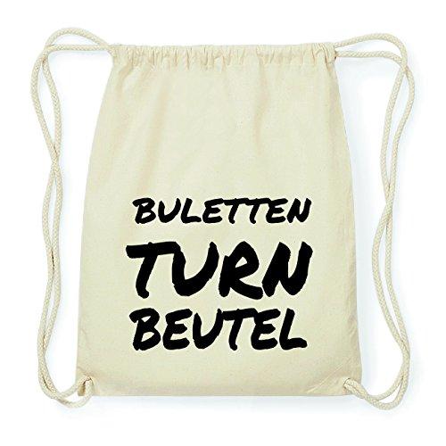 JOllify BULETTEN Hipster Turnbeutel Tasche Rucksack aus Baumwolle - Farbe: natur Design: Turnbeutel