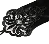 BABEYOND Long Opera Party 20s Satin Gloves Stretchy Adult Size Lace Tea Party Gloves 13.8 Inches