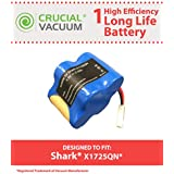 Long Lasting Rechargeable 4.8V, 3000mAh Battery for Shark V1700Z, V1930 Cordless Sweeper; Compare to Shark Part No. X1725QN; Designed & Engineered by Think Crucial