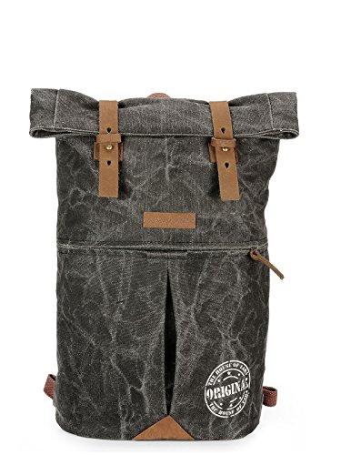 The House Of Tara PU Leather Overnighter Hiking Weekender Backpack