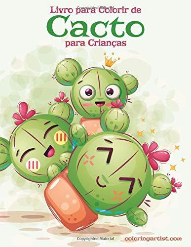 Livro Para Colorir De Cacto Para Criancas Portuguese Edition