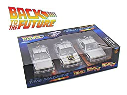 Back To The Future 1, 2, 3 Trilogy Delorean Time Machine Set 1/24 Car Models by Welly